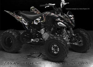 "YAMAHA RAPTOR 125 GRAPHICS DECALS KIT ""THE JESTERS GRIN"" FOR BLUE PLASTICS - Darkside Studio Arts LLC."