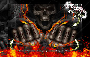 LOSI MONSTER TRUCK XL MTXL CHASSIS WRAP KIT 'HELL RIDE' SERIES HOP UP DECALS FITS LOS251041 - Darkside Studio Arts LLC.
