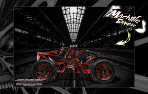 LOSI LST 3XL-E WRAP DECAL HOP-UP CUSTOM KIT PARTS 'THE DEMONS WITHIN' FITS LOS340000 CLEAR BODY - Darkside Studio Arts LLC.
