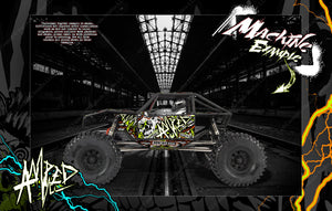 AXIAL CAPRA BODY, INTERIOR AND CHASSIS GRAPHICS DECALS SKIN WRAP 'AMPED' - Darkside Studio Arts LLC.