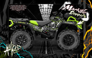 CAN-AM OUTLANDER XMR MAX XT 'AMPED' GRAPHICS WRAP SKIN DECAL KIT FULL COVERAGE - Darkside Studio Arts LLC.