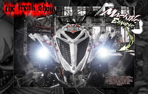 "YAMAHA RAPTOR 700 2013-2020 ""THE FREAK SHOW"" GRAPHICS WRAP KIT CUSTOMIZABLE - Darkside Studio Arts LLC."