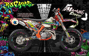 """RUCKUS"" GRAPHICS WRAP DECAL SKIN KIT FITS KTM 2012-2020 EXC XCW 250 300 450 525 - Darkside Studio Arts LLC."