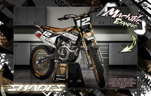 'SHADES' GRAPHICS WRAP DECAL KIT FITS HUSQVARNA 2014-2021 TC FC FS 701 ENDURO / DIRT BIKE - Darkside Studio Arts LLC.