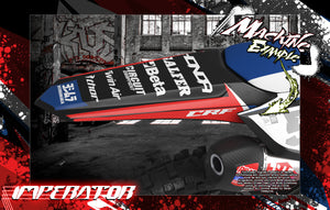 'IMPERATOR' GRAPHICS WRAP DECAL KIT FITS HONDA CR125 CR250 2002-2007 POLISPORT RESTYLE PLASTICS - Darkside Studio Arts LLC.