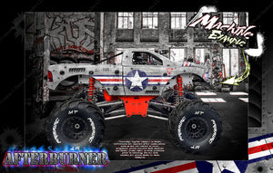 "PRIMAL RC RAMINATOR MONSTER TRUCK WRAP ""AFTERBURNER"" GRAPHICS HOP-UP DECAL KIT - Darkside Studio Arts LLC."