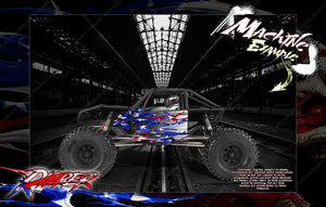 AXIAL CAPRA BODY, INTERIOR AND CHASSIS GRAPHICS SKIN WRAP 'ripper' - Darkside Studio Arts LLC.