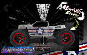 ARRMA KRATON 8s / 6s 'AFTERBURNER' GRAPHICS WRAP DECAL KIT FOR PRO-LINE BRUTE BASH UNBREAKABLE BODY - Darkside Studio Arts LLC.