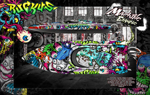 "PRO BOAT IMPULSE SHOCKWAVE SONICWAKE 36"" ZELOS 36"" (MISS GEICO) BOAT CUSTOM WRAP DECAL GRAPHICS KIT 'RUCKUS' - Darkside Studio Arts LLC."
