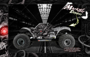 LOSI MTXL MONSTER TRUCK WRAP DECAL HOP-UP CUSTOM KIT PARTS 'MACHINEHEAD' FITS LOS250015 BODY - Darkside Studio Arts LLC.