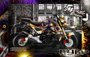 HONDA  MSX125 GROM 2013-2020 GRAPHICS WRAP 'PYRO' DECAL WRAP KIT FITS OEM PARTS - Darkside Studio Arts LLC.