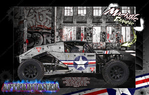 KRAKEN VEKTA.5 / SIDEWINDER / TSK B CLASS 1 BODY PANEL WRAP DECAL KIT 'AFTERBURNER' HPI - Darkside Studio Arts LLC.