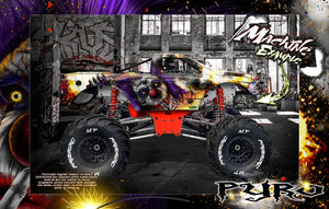 "PRIMAL RC RAMINATOR MONSTER TRUCK WRAP ""PYRO"" GRAPHICS HOP-UP DECAL KIT - Darkside Studio Arts LLC."