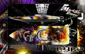 "PRO BOAT IMPULSE SHOCKWAVE SONICWAKE 36"" ZELOS 36"" (MISS GEICO) BOAT CUSTOM WRAP DECAL GRAPHICS KIT 'PYRO' - Darkside Studio Arts LLC."