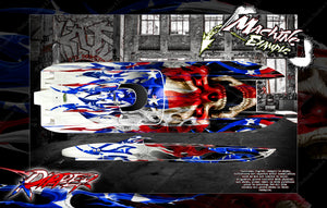 BOAT HULL CUSTOM WRAP DECAL GRAPHICS KIT 'RIPPER' FOR TFL HOBBY ZONDA 1040mm - Darkside Studio Arts LLC.