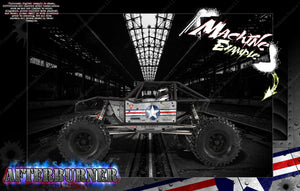 AXIAL CAPRA BODY, INTERIOR AND CHASSIS GRAPHICS SKIN WRAP 'AFTERBURNER' - Darkside Studio Arts LLC.