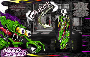 'NEED FOR SPEED' CHASSIS WRAP DECAL KIT FITS LOSI 5IVE-B 5IVE-T 5IVE-T 2.0 HOP-UP PROTECTION - Darkside Studio Arts LLC.