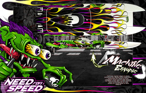 BOAT HULL CUSTOM WRAP DECAL GRAPHICS KIT 'NEED FOR SPEED' FOR TFL HOBBY ZONDA 1040mm - Darkside Studio Arts LLC.