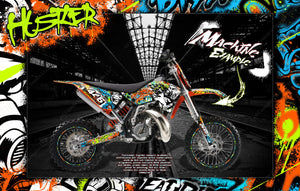'HUSTLER' DECALS GRAPHICS WRAP FITS KTM 2009-2015 SX50 SX65 KTM65 KTM50 - Darkside Studio Arts LLC.