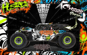 LOSI SUPER BAJA REY / SUPER ROCK REY WRAP DECAL KIT 'HUSTLER' FITS LOS250035 / LOS350002 - Darkside Studio Arts LLC.