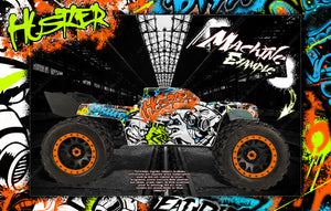 ARRMA KRATON 8s / 6s 'HUSTLER' GRAPHICS WRAP DECAL KIT FOR PRO-LINE BRUTE BASH UNBREAKABLE BODY