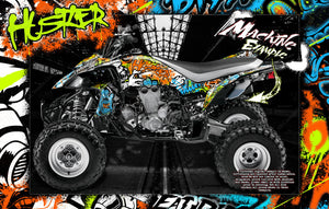 'HUSTLER' FULL COVERAGE GRAPHICS WRAP DECAL KIT FITS YAMAHA YFZ450 YFZ450R YFZ450X - Darkside Studio Arts LLC.