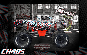 "PRIMAL RC RAMINATOR MONSTER TRUCK WRAP ""CHAOS"" GRAPHICS HOP-UP DECAL KIT - Darkside Studio Arts LLC."