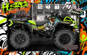 CAN-AM OUTLANDER XMR MAX XT 'HUSTLER' GRAPHICS WRAP SKIN DECAL KIT FULL COVERAGE - Darkside Studio Arts LLC.