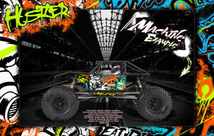 AXIAL CAPRA BODY, INTERIOR AND CHASSIS GRAPHICS SKIN WRAP 'HUSTLER' - Darkside Studio Arts LLC.