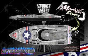 "PRO BOAT IMPULSE SHOCKWAVE SONICWAKE 36"" ZELOS 36"" (MISS GEICO) BOAT CUSTOM WRAP DECAL GRAPHICS KIT 'AFTERBURNER' - Darkside Studio Arts LLC."