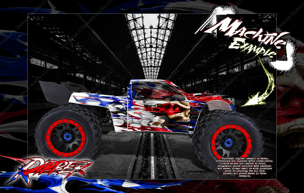 ARRMA KRATON 8s / 6s 'RIPPER' GRAPHICS WRAP DECAL KIT FOR PRO-LINE BRUTE BASH UNBREAKABLE BODY