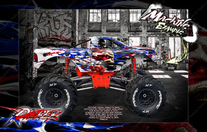 PRIMAL RC RAMINATOR MONSTER TRUCK WRAP 'RIPPER' GRAPHICS HOP-UP DECAL KIT - Darkside Studio Arts LLC.