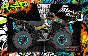 "CAN-AM RENEGADE 500 850 1000 XMR ""HUSTLER"" GRAPHICS WRAP DECALS KIT FULL COVERAGE SET - Darkside Studio Arts LLC."