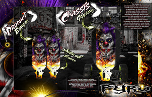 LOSI MONSTER TRUCK XL MTXL CHASSIS WRAP KIT 'PYRO' SERIES HOP UP DECALS FITS LOS251041 - Darkside Studio Arts LLC.
