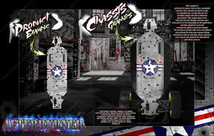 LOSI DESERT BUGGY XL / XL-E / XL-E 2.0 CHASSIS WRAP KIT 'AFTERBURNER' HOP UP DECAL SET FITS OEM PARTS - Darkside Studio Arts LLC.