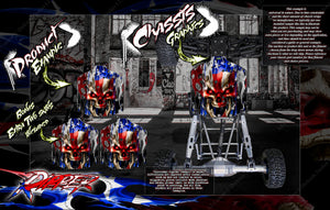 'RIPPER' CHASSIS WRAP DECAL KIT FITS LOSI ROCK REY / BAJA REY 1/10 HOP-UP PROTECTION - Darkside Studio Arts LLC.