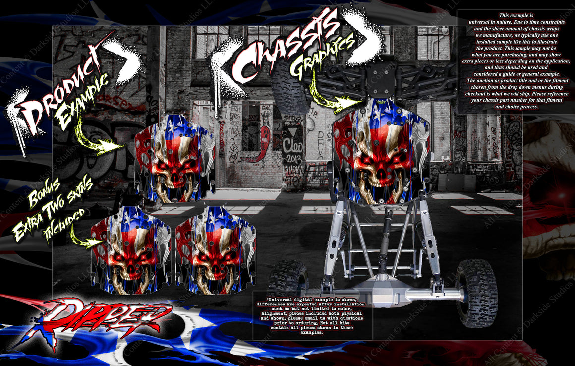 'RIPPER' CHASSIS WRAP DECAL KIT FITS LOSI SUPER ROCK REY / SUPER BAJA REY HOP-UP PROTECTION - Darkside Studio Arts LLC.