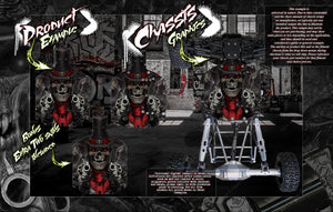 'THE OUTLAW' CHASSIS WRAP DECAL KIT FITS LOSI ROCK REY / BAJA REY 1/10 HOP-UP PROTECTION - Darkside Studio Arts LLC.