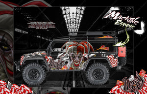 "TRAXXAS TRX-4 GRAPHICS WRAP DECALS HOP-UP PARTS ""LUCKY"" FITS DEFENDER K5 BLAZER AND SPORT - Darkside Studio Arts LLC."