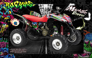 HONDA TRX700XX GRAPHICS WRAP 'RUCKUS' FITS OEM AND MOST AFTERMARKET FENDERS AND PARTS - Darkside Studio Arts LLC.