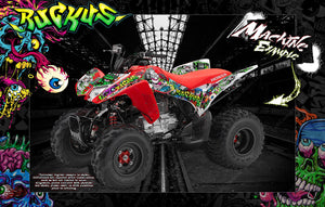 HONDA TRX90EX TRX90 QUAD ATV GRAPHICS WRAP 'RUCKUS' FITS OEM FENDERS AND PARTS - Darkside Studio Arts LLC.