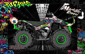 "CAN-AM RENEGADE 500 850 1000 XMR ""RUCKUS"" GRAPHICS WRAP DECALS KIT FULL COVERAGE SET - Darkside Studio Arts LLC."