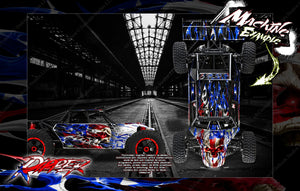 LOSI DESERT BUGGY XL / XL-E WRAP DECAL KIT 'RIPPER' FITS LOS250018 AND LOS350000 - Darkside Studio Arts LLC.