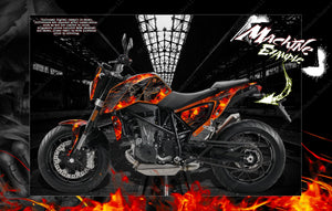 "KTM 2011-2019 DUKE 125 200 390 690 ""HELL RIDE"" GRAPHICS DECALS WRAP - Darkside Studio Arts LLC."