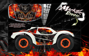 PRO-LINE BRUTE BASH BODY GRAPHICS FOR TRAXXAS SLASH 4X4 SLASH 2WD PRO-FUSION 'HELL RIDE' - Darkside Studio Arts LLC.