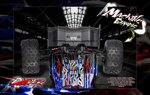 "ARRMA KRATON 8s / 6s GRAPHICS WRAP DECALS ""RIPPER"" HOP-UP FITS STOCK LEXAN BODY - Darkside Studio Arts LLC."