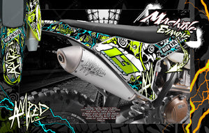 HUSQVARNA 2014-2019 TX125 TE250 TE300 GRAPHICS WRAP 'AMPED' DECAL WRAP KIT - Darkside Studio Arts LLC.