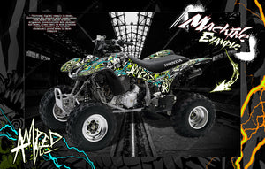 HONDA 1999-2019 TRX400EX GRAPHICS WRAP 'AMPED' FITS OEM FENDERS AND PARTS - Darkside Studio Arts LLC.