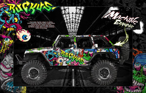 AXIAL WRAITH / SPAWN / JEEP / DEADBOLT / RR10 BOMBER EXO GRAPHICS WRAP 'RUCKUS' - Darkside Studio Arts LLC.