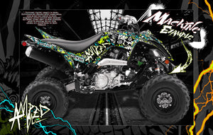YAMAHA RAPTOR 700 2006-2020 GRAPHICS WRAP 'AMPED' WITH CUSTOM COLOR CHOICE - Darkside Studio Arts LLC.